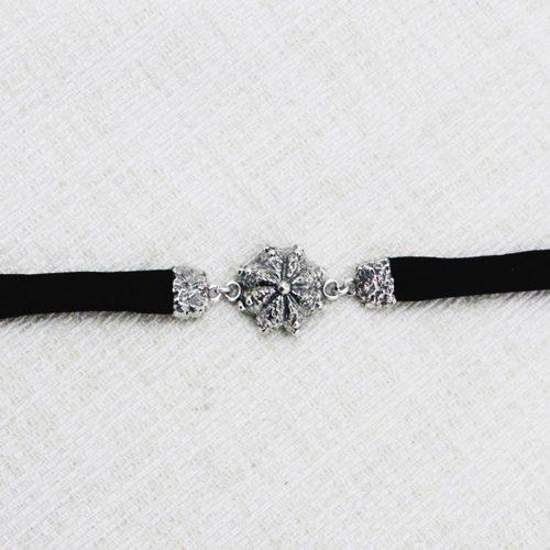 Roots Bracelet with Black Brocade 1