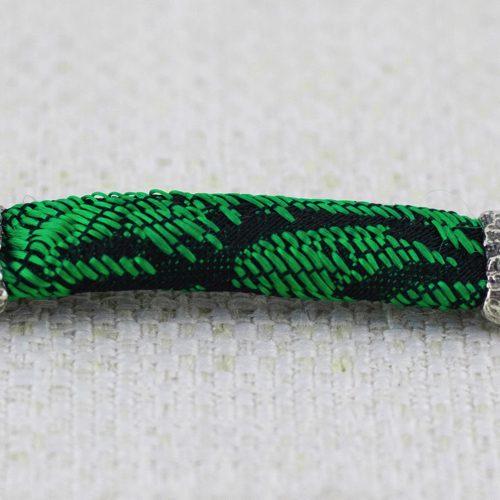 Bracciale Moon Ring con Broccato Nero e Verde 3