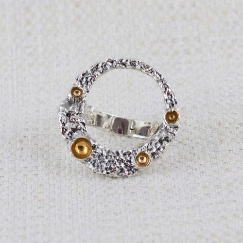 Anello Moon Ring con Dorature 1