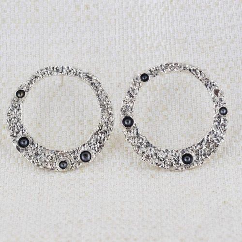 Orecchini Moon Ring Large con Bruniture 1