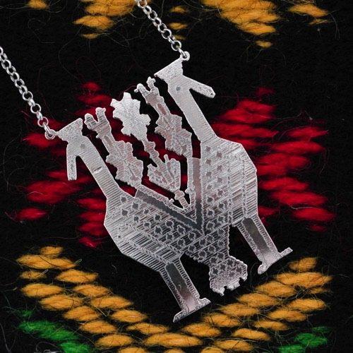 """""""Pavoncelle"""" Necklace (Carpet detail). """"Li Trami - Aggius"""" Collection 1"""
