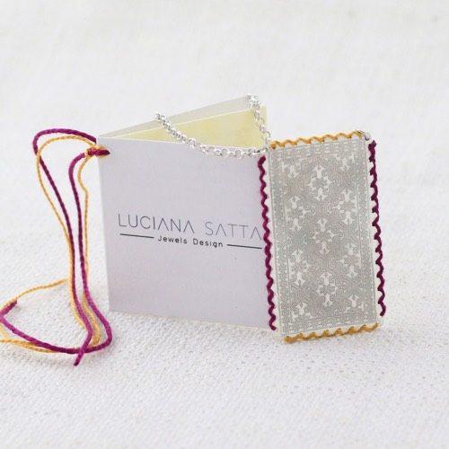 """Anatolica"" Cotton Necklace (Whole carpet) ""Li Trami -Aggius"" Collection 1"