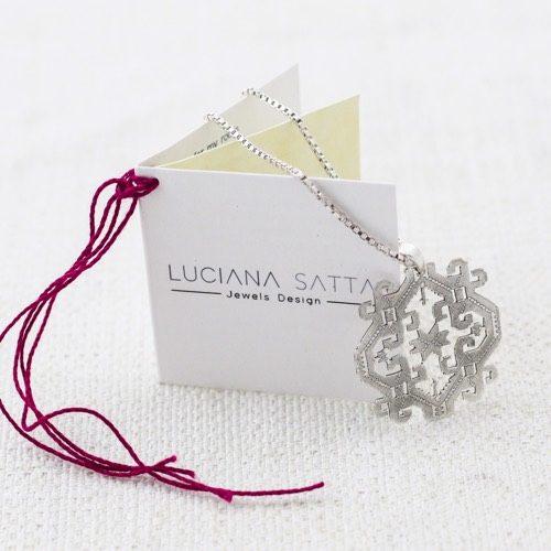 """Anatolica"" Necklace (Pattern detail) ""Li Trami -Aggius"" Collection 1"