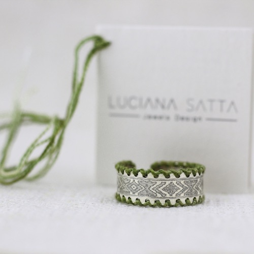 """Pommu"" Ring Cotton. ""Li Trami Aggius Collection"" 2"